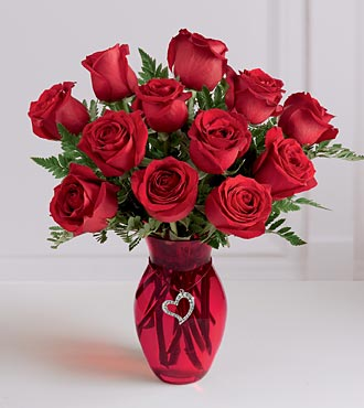 The FTD In Love with Red Roses Bouquet