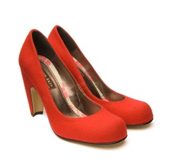 Beyond Skin Cherub Pump Faux Felt, $220 at Greenloop