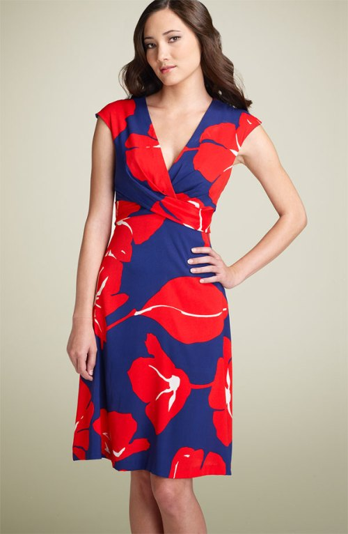 Donna Ricco Tie Back Dress, $168