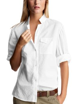 Gap Dobby Striped Roll-Up Shirt, $48