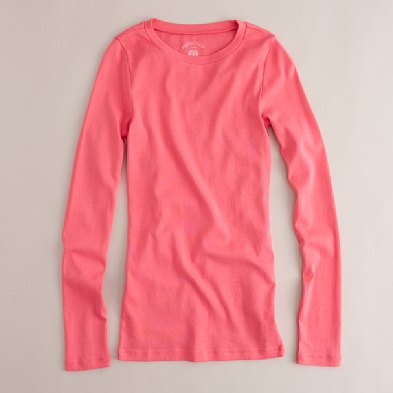 J. Crew Perfect Fit Long Sleeve T: $19.50