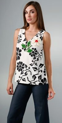 Karta Printed V Sleeveless Top, $74.88 (Orig. $312)