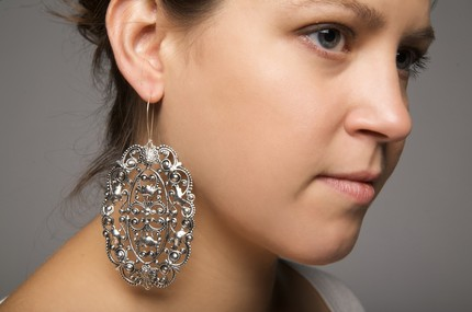 Louise Silver Pretties Earrings, $31.20