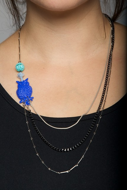 Night Owl Blue Star Necklace at Betsy and Iya.com, $44