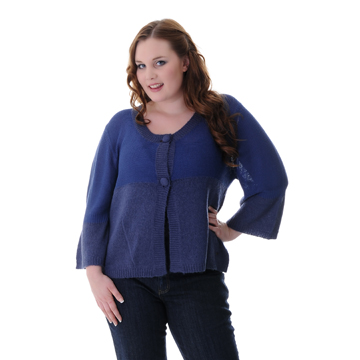 PAS Knitted Cardigan In China Blue- Poro, 64p