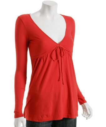 Rebecca Beeson Bright Red Empire Waist Tunic at Bluefly