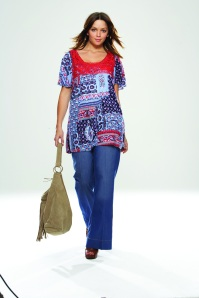 "SimplyBe Plus Size ""Homespun"" Patchwork Tee"