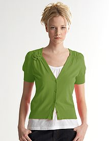 Ann Taylor Loft Short Sleeve Flower Cardigan, $49.50
