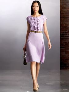Banana Republic Silk Ruffle Dress, $67.99