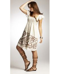 Smocked Detail Dress, 32, $45.73