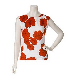 Tibi Red Gerbera Shell at ChickDowntown