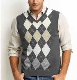 Combed Cotton Argyle Front Sweater Vest, $54.50 @ Banana Republic