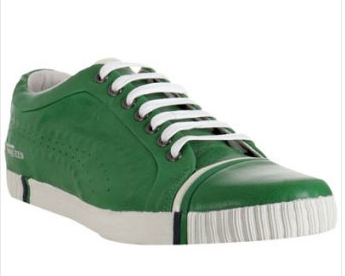 Puma Green Leather 'Scarred Street Low' Sneaker, $111.34 at Bluefly