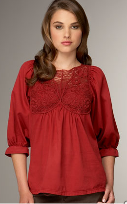Artist Colony Tunic in Baked Apple, $35
