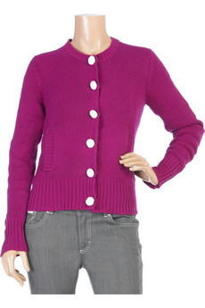 """Calisten"", Cotton/Acrylic Grape Cardigan, $78.45, Sz. L"