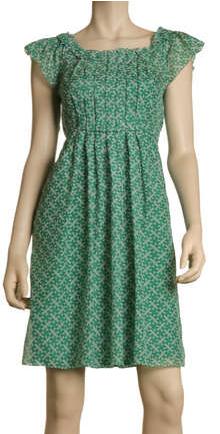MaxStudio.com Flutter Sleeve Boat Neck Dress $68