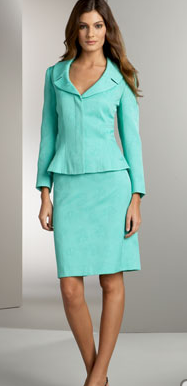 Turquoise Skirt Suit, $93.75